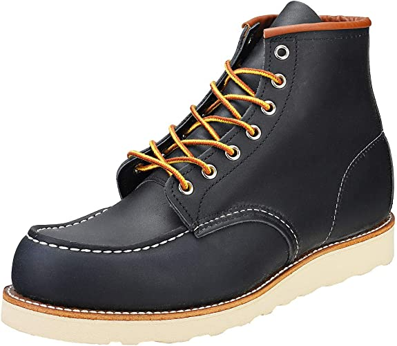 Rouge Hommes Marine Wing Bottes Classic MOC Chaussures OPXTkiuZ