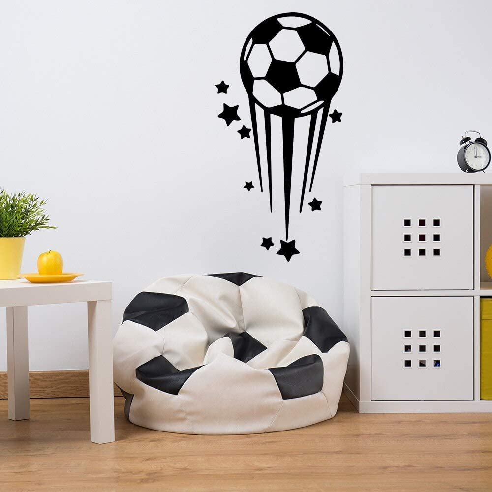 yaonuli Cartoon Star Football Wall Sticker Vinilo Wall Art Sticker para niños Sala de Estar decoración del hogar 30x58cm: Amazon.es: Hogar