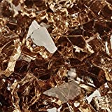 1/4' Non Reflective Fire Glass for Indoor or Outdoor Fire Pits or Fireplace 10 Pounds (Copper)
