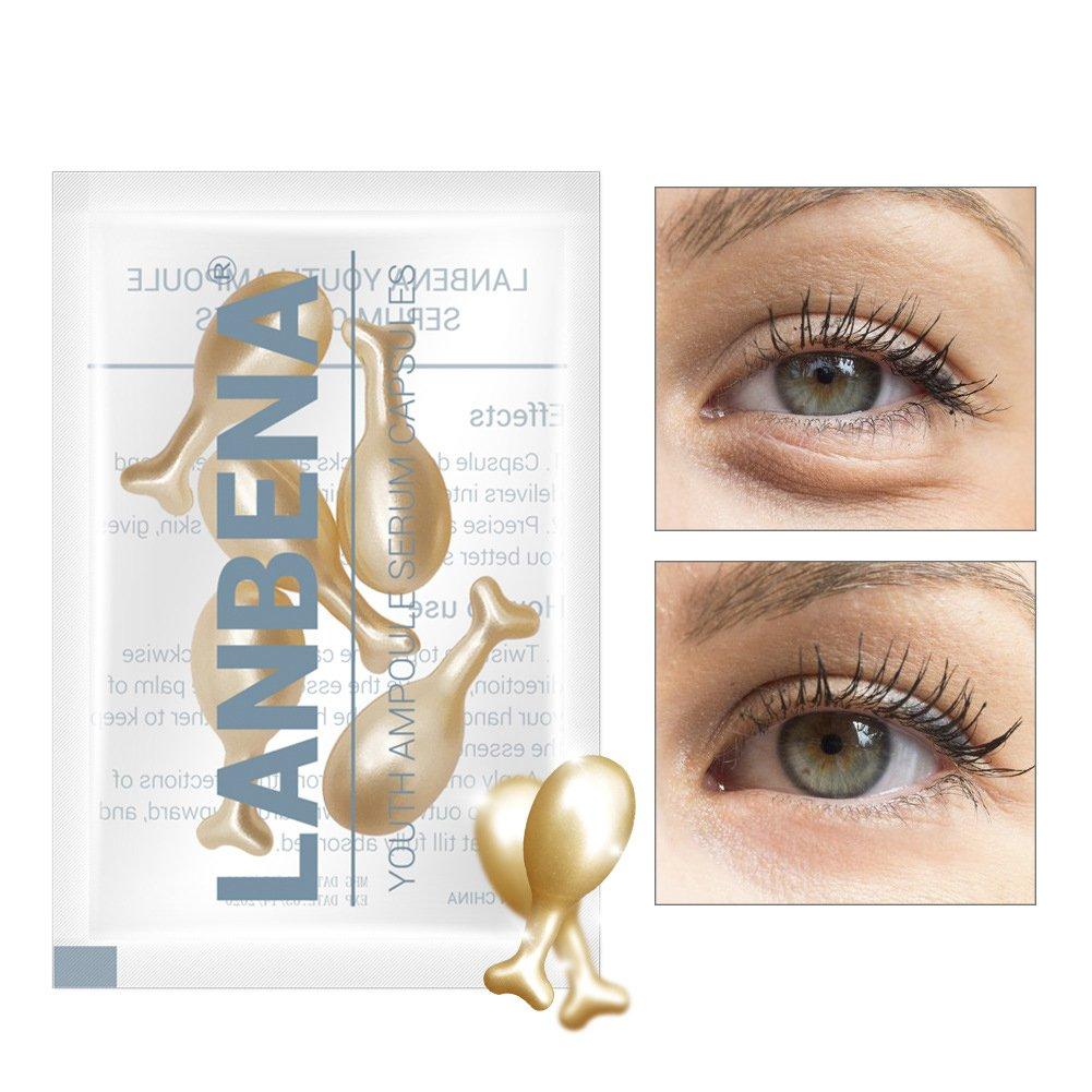 Eye Essence, 24K Gold Snail Essence Hydrating Snail Moisturizing Serum for Eye Anti-Wrinkles or Puffiness Filfeel