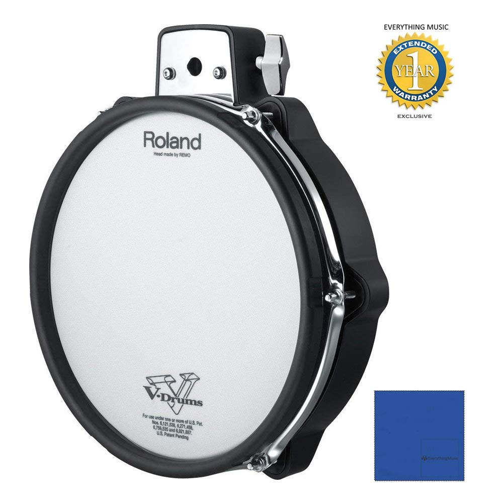 Roland PDX-100 V-Pad 10'' Mesh-head Drum Pad with 1 Year Free Extended Warranty by Roland