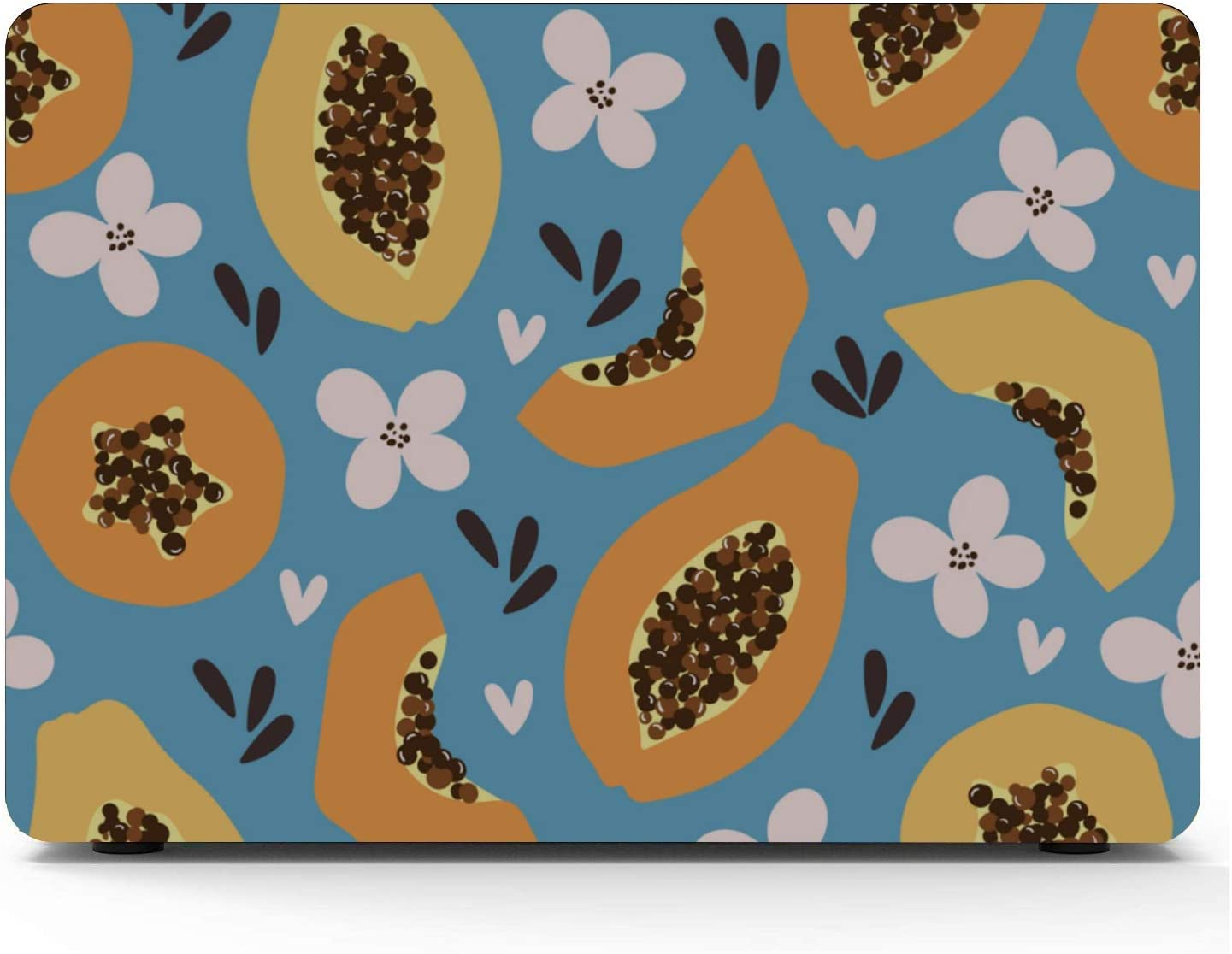 MacBook 2017 Case Summer Tropical Cute Papaya Fruit Plastic Hard Shell Compatible Mac Air 11 Pro 13 15 MacBook Pro 15inch Case Protection for MacBook 2016-2019 Version