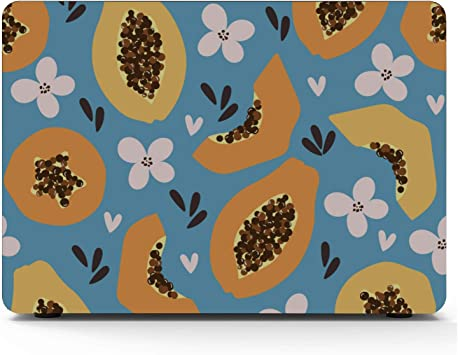 MacBook 13 Inch Case Summer Tropical Cute Papaya Fruit Plastic Hard Shell Compatible Mac Air 11 Pro 13 15 Mac Air Case Protection for MacBook 2016-2019 Version