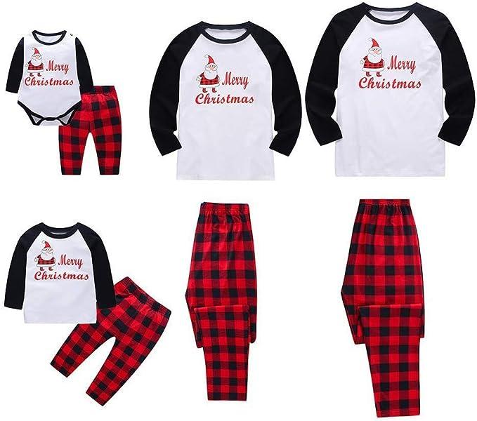 LUNULE Conjunto de Pijamas Familiares de Navidad, Dos Piezas ...