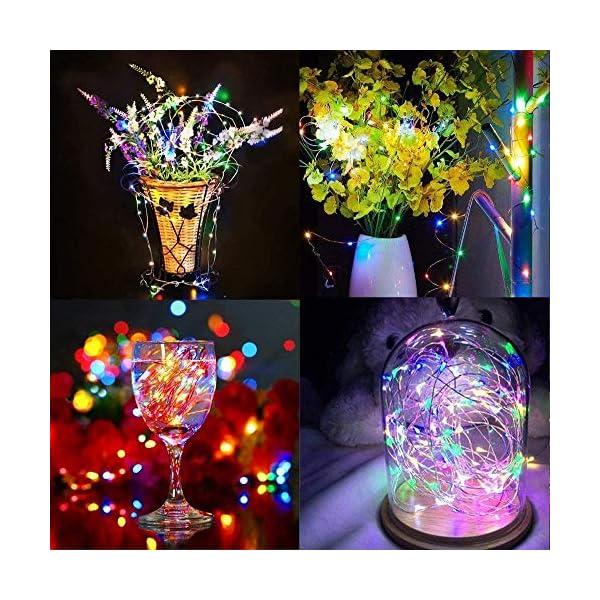 Qedertek Luci Natale Esterno Solare, Luci Natalizie 24M 240 LED, Lampadina Natale con Luci Colorate, Stringa Luci Solare Impermeabile, Luci Addobbi Natalizi per Albero di Natale (colore) 5 spesavip