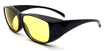 Überzieh-Nachtsicht-brille Unisex Polarisiert UV380 für Brillenträger Überbrille 4Twmd