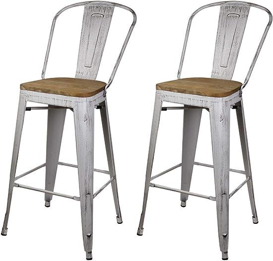 GIA High Back Armless Bar Chair