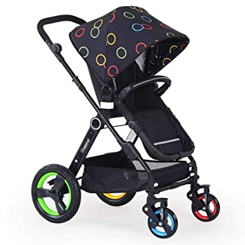SED Trolley Niño Take A Walk Light Paraguas Coche Cuatro Ruedas Collision Folding Puede Estar acostado Carritos para niños Cochecito Plegable para bebés ...