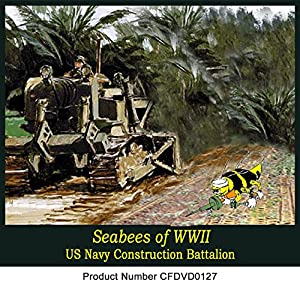 Seabees of WWII Old Films Sicily Italy Normandy harbors Iwo Jima DVD by CampbellFilms