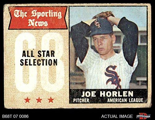 1968 Topps # 377 All-Star Joe Horlen Chicago White Sox (Baseball Card) Dean's Cards 1.5 - FAIR White Sox
