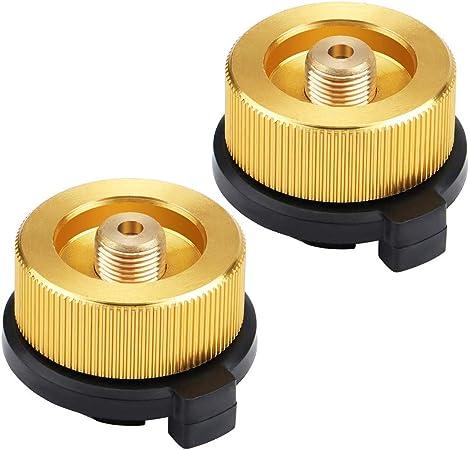 SILULCM 2 adaptadores de gas seguros y duraderos para estufa ...