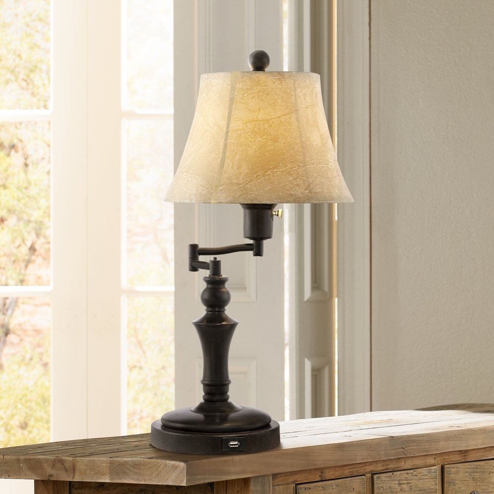 Corey Swing Arm Desk Lamp with USB Port by Regency Hill (Image #2)