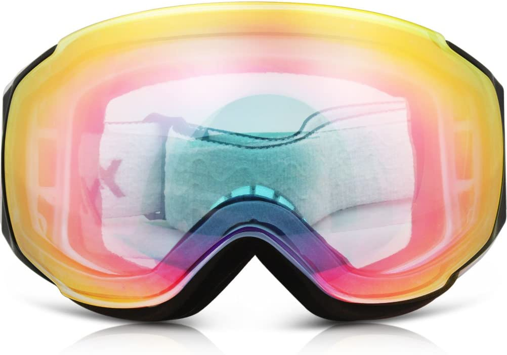Ski Goggles, YAKAON Y3 Frameless Snow Goggles Anti-Fog Dual Layer Lens 100 UV400 Protection Snowboard Goggles for Men and Women