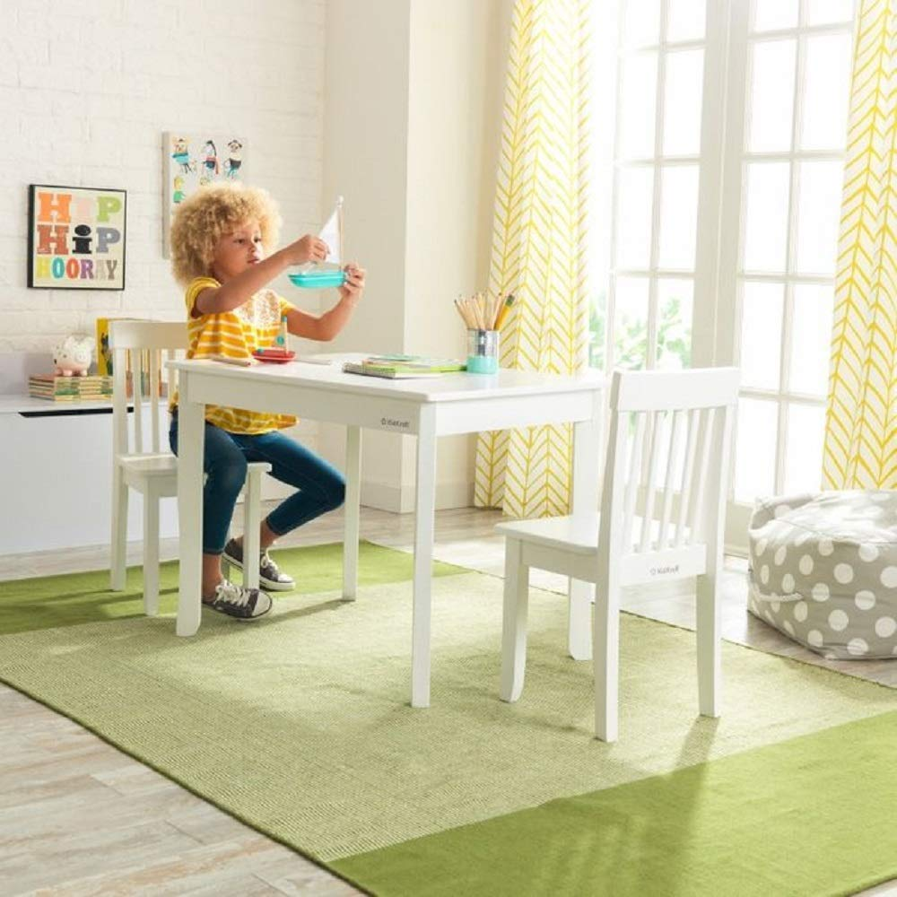 KidKraft Avalon II 3 Piece Table and Chair Set in White by KidKraft