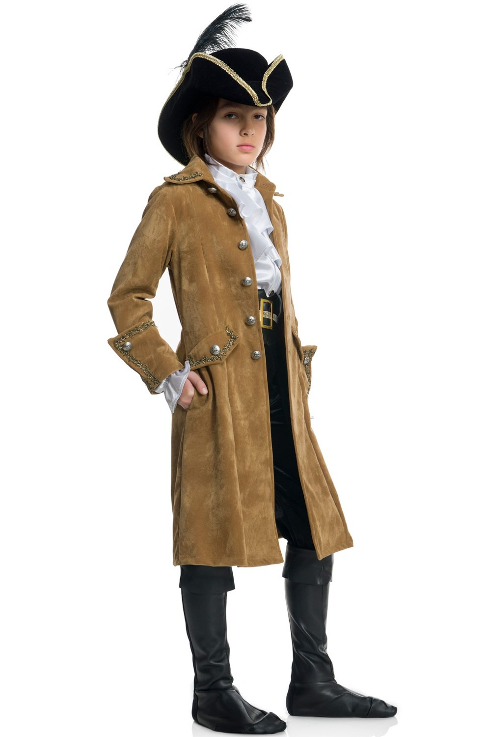 Charades Buccaneer Pirate Child Costume-X-Large