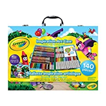 Crayola Inspiration Art Case; 140 Art Supplies, Crayons, Colored Pencils, Washable markers, Paper, Portable Case, gifts for kids and adults (style may vary)