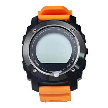 Naranja Bluetooth muñeca banda reloj, resistente al agua reloj Digital reloj para damas, compatible con iOS8 +/android4.3 + deportes reloj de pulsera: ...