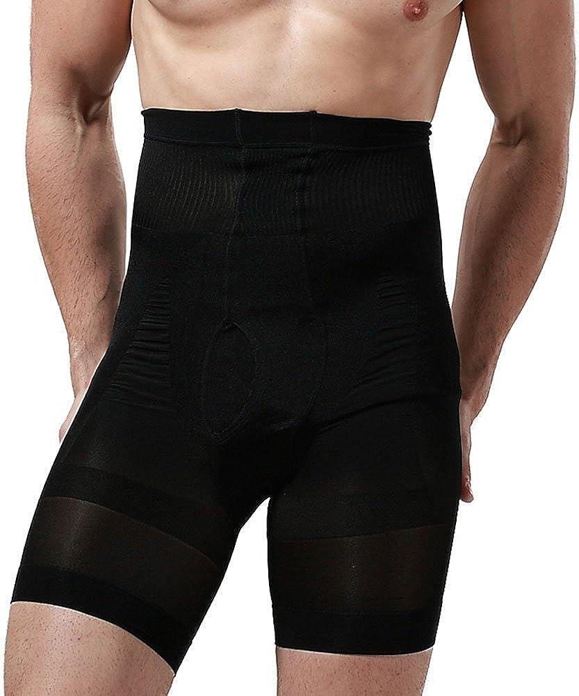 Showbellia Men's Slimming Shorts Waist Training Compression Shaper Pants Black One size