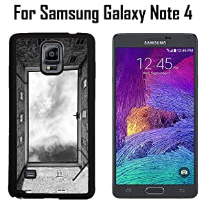 Building View From Below Custom Case/ Cover/Skin *NEW* Case for Samsung Galaxy Note 4 - Black - Plastic Case (Ships from CA) Custom Protective Case , Design Case-ATT Verizon T-mobile Sprint ,Friendly Packaging - Slim Case