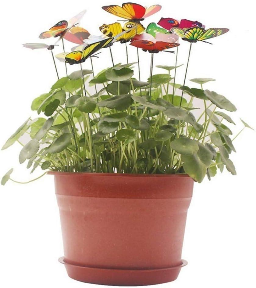 Momangel 15pcs//Set Artificial Simulation Butterfly Stakes Garden Yard Patio Flowers Pot Plant Lawn Decoration Random Color /& Style