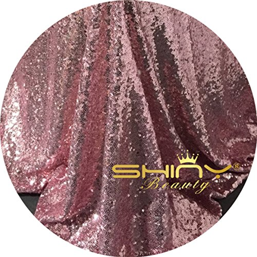 Sparkly Fabric (ShinyBeauty Pink Gold Sequin Fabric By The Yard, Sparkly Glilz Sequin Fabric For handmade of Sequin Backdrop, Tablecloth, Bow, Table Runner, Aisle Runner, Xmas Tree Decorations Etc. (Pink Gold))