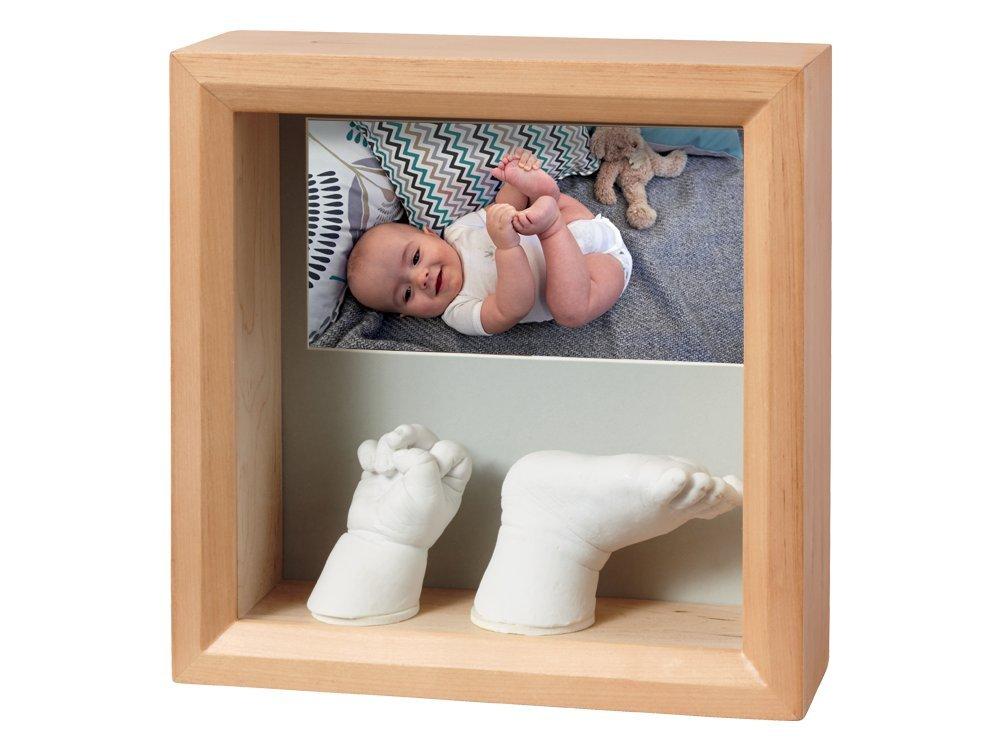 Baby Art My Baby Sculpture Bilderrahmen für ein Foto und zwei Hand und/oder Fuß 3DAbdruck, honey 34120183