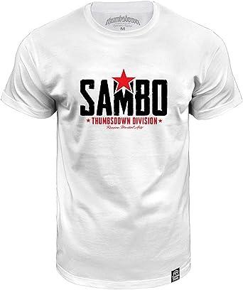 Sambo. Thumbsdown Division. MMA Camiseta - algodón, blanco ...