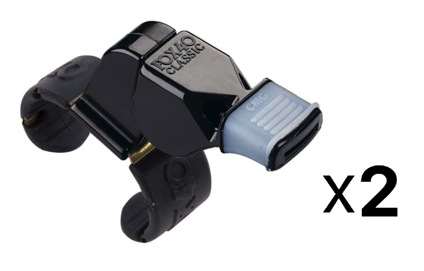 FOX 40 Cmg Whistle With Finger Grip Official Hockey Refereeand Coach (2-Pack)