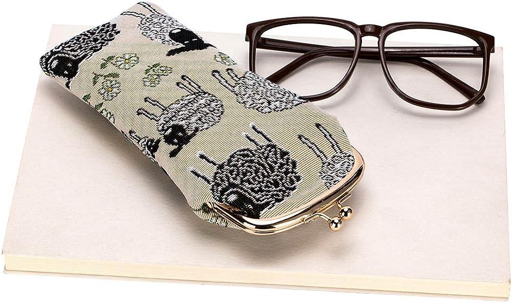 Custodia Occhiali da Sole Portaocchiali per Donna con Disegni di Animali Signare Tapestry Arazzo Porta Occhiali Custodia Occhiali
