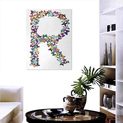 Amazon com: Letter R Print On Canvas Wall Decor A Collection