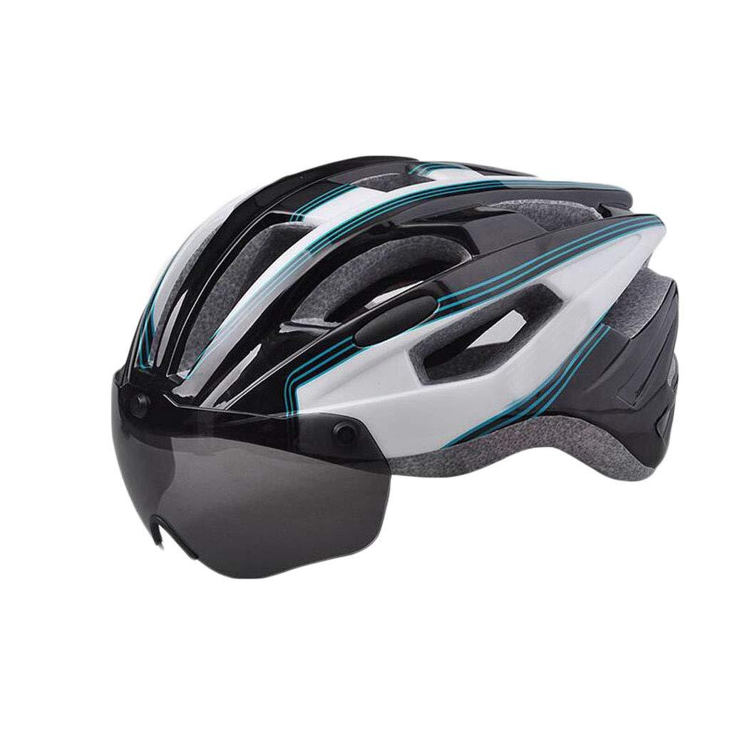 JBHURF Fahrradhelm mit Schutzbrille Integrierter Sicherheitshut für Herren und Damen, die Line-Equipment Fahren