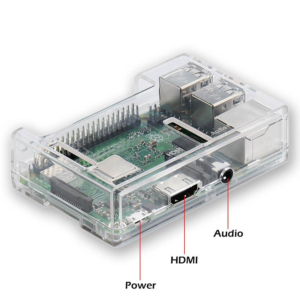 Raspberry Pi 3 b+ Case, iUniker Raspberry Pi 3 Model B+ Transparent Case with Raspberry Pi Heatsink for Raspberry Pi 3B+, 3B, 2B - Access to All Ports (Clear) by iUniker (Image #2)