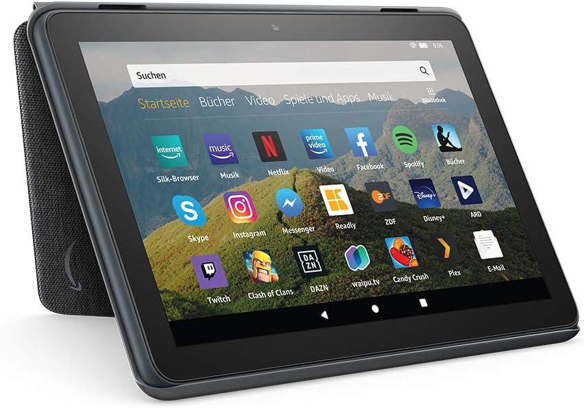 Hülle Für Fire Hd 8 Tablet Kompatibel Mit Der 10 Generation 2020 Kohlenschwarz Amazon Devices