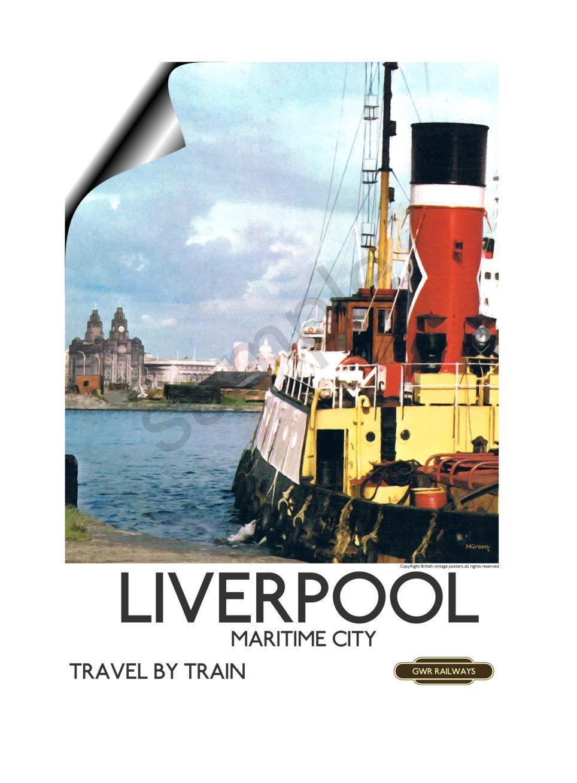 Vintage British Rail Lancaster Railway Poster A3//A4 Print