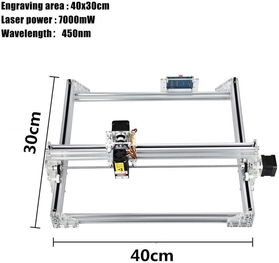 HUKOER 7000MW Máquina Láser Kits de Bricolaje 40×30 cm CNC ...