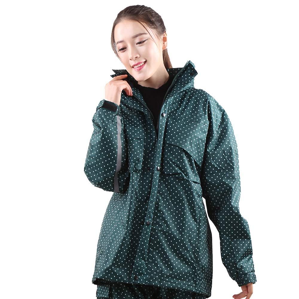 vert XXXL Guyuan Hommes et Femmes Mode imperméable Pantalon de Pluie Costume Camouflage Adulte Double épaisseur Moto Batterie imperméable Voiture (Couleur   vert, Taille   XXL)