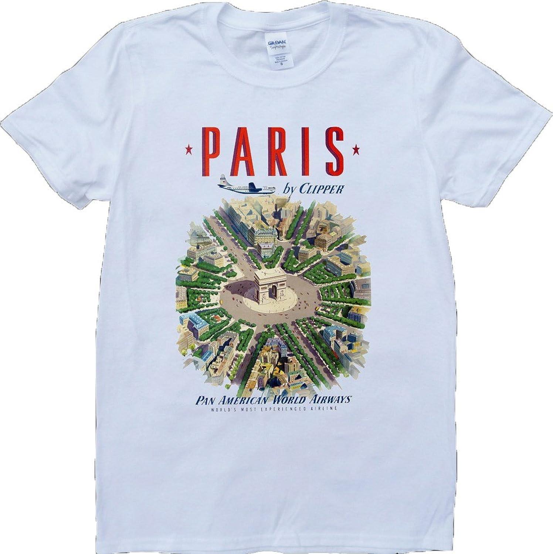 Paris Short Sleeve Crew Neck Custom Made T-Shirt