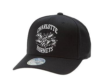 91fe35e24ae9b Mitchell   Ness Charlotte Hornets – NBA Baloncesto – – Gorra Snapback –  Flexfit de Negro