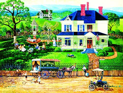 Sunsout 2019 The Ice Wagon by Artist Bob Pettes 500 Piece Americana & Folk Art Jigsaw Puzzle