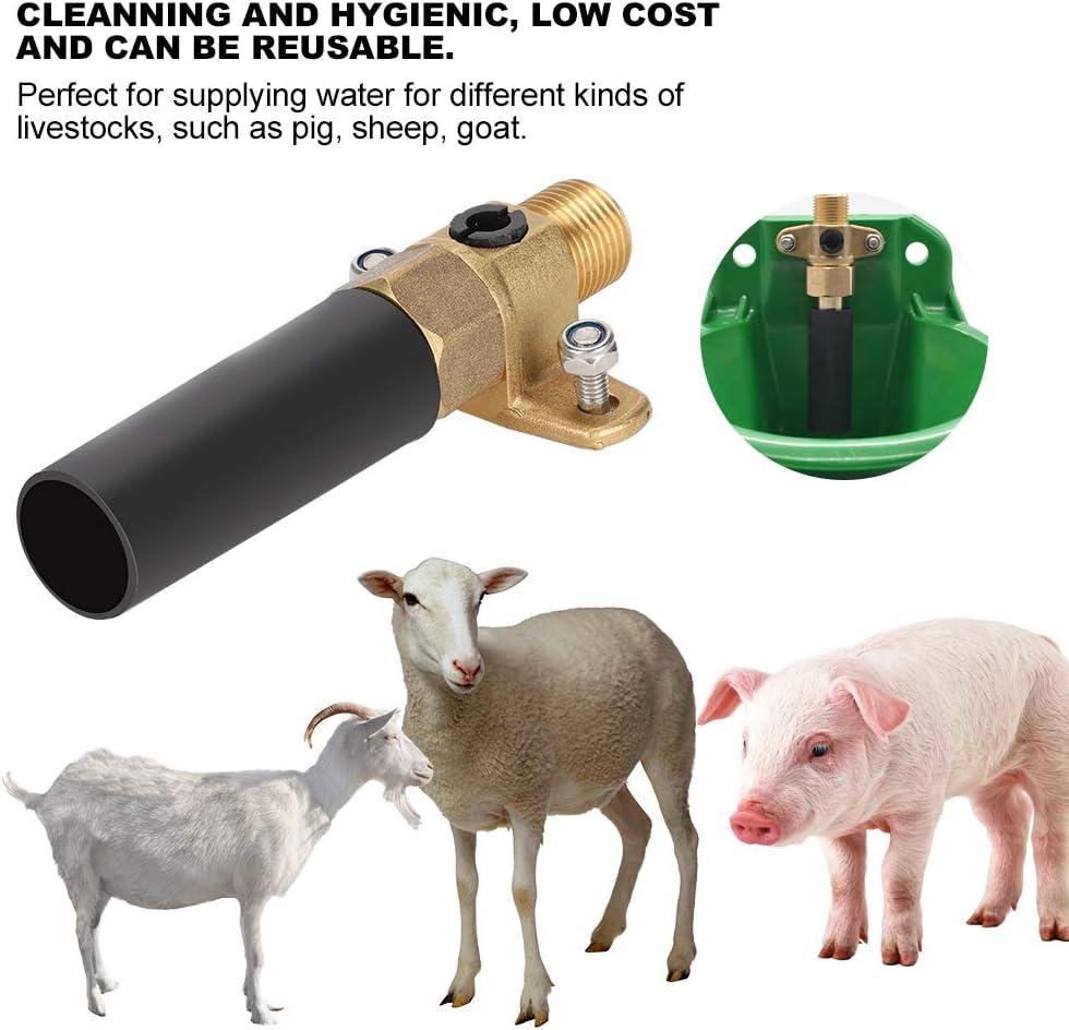 accesorios para cuenco de agua de oveja v/álvula de cobre de oveja Bebedero lindo oveja cerdo accesorios para bebedero de agua herramientas para beber de cerdo