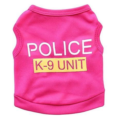 URIJK Arnés para camiseta con estampado de policía para perro, de ...