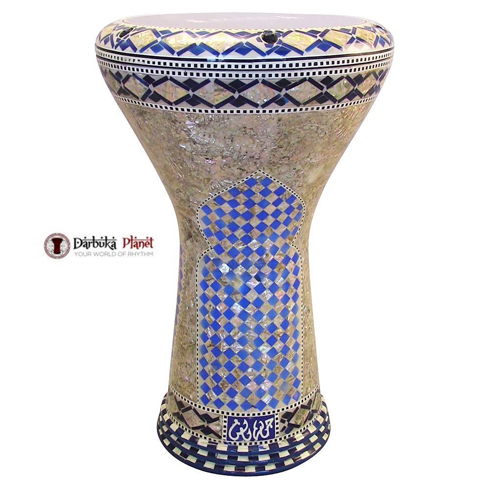 Gawharet El Fan 17'' Mother of Pearl Darbuka''Blue Gate'' Darbuka Drum Percussion