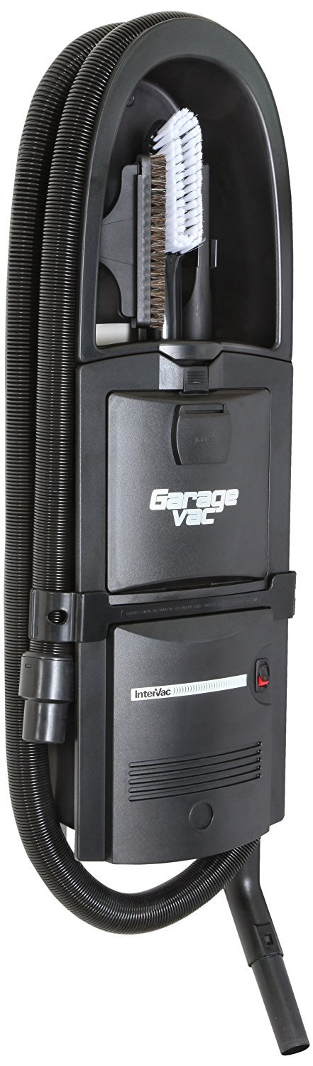GarageVac GH120-E Black Wall Mounted Garage Vacuum with Accessory