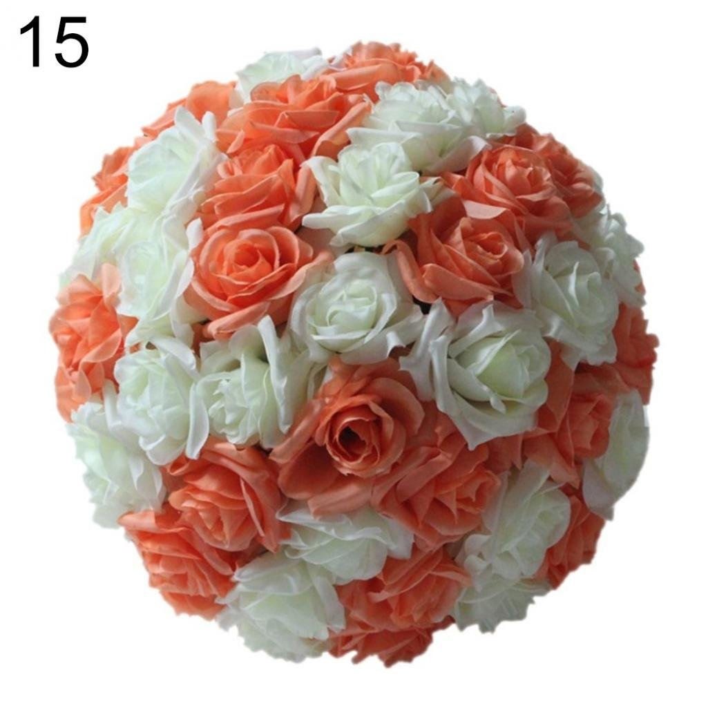 20,3/cm wedding artificiale rose seta fiore palla appesa decorazione centrotavola Amesii Hot Pink