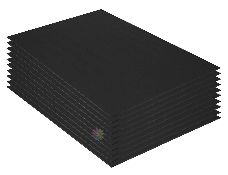 Mat Board Center, Pack of 10 3/16'' Black Foam Core Backing Boards (20x24, Black)