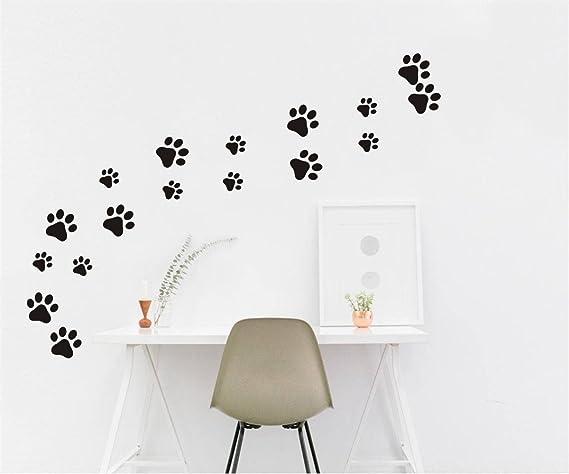49 Pieces Set Dog Paws Wall Decals Vinyl Pawprints Sticker Animal Footprint Wall Art Decoration For Kids Boy Girl Baby Nursery Bedroom Living Room Animal Tracks Decor Ymx21 Black Arts Crafts