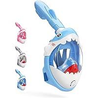 DCYSO Snorkel Mask Full Face Kids - 2020 Shark Sharp Snorkeling Mask for Kid HD Seaview Anti Fog Anti Leak