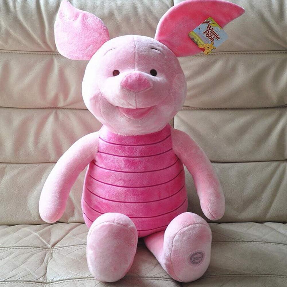 Zhangmeiren Piglet Bordado Estándar De Juguete De Peluche Winnie The Juguete Suave Cerdo Pooh Piglet Amigos (Color : Pink, Size : 80CM)