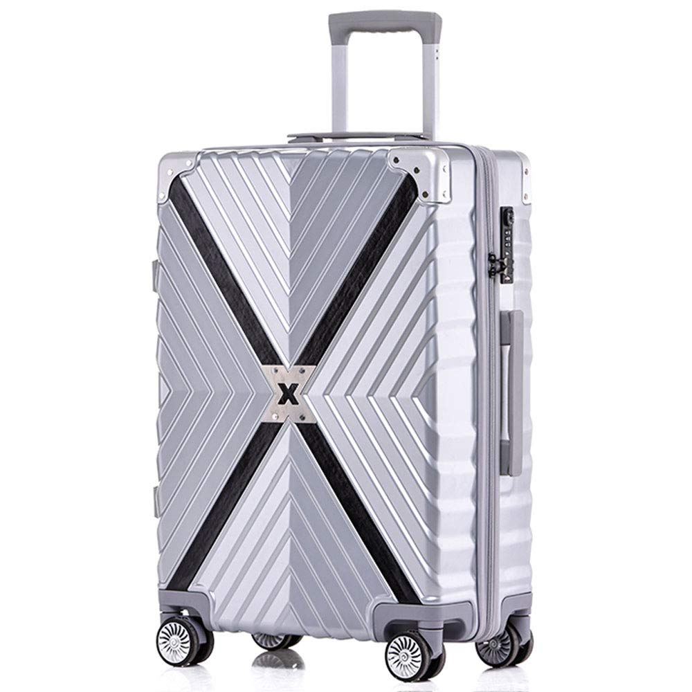2 Colors 3 Sizes Optional ///& ABS//PC YD Luggage Set Trolley case Retro Embossed Texture Anti-Collision Caster Student Boarding Chassis TSA Combination Lock Large Capacity