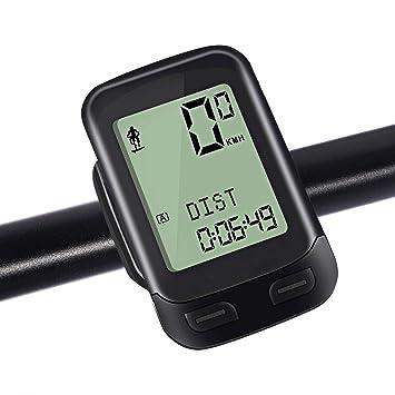 Nacatin Cuentakilómetro Inalámbrico Ciclocomputador, IPX6 Impermeable Multifuncional 2.4 GHz - Ordenador para Bicicleta con Gran